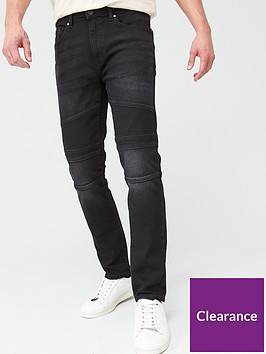 very-man-slim-black-biker-jeans-black