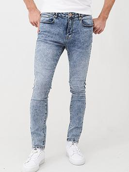 V by Very V By Very Skinny Acid Wash Jeans - Light Blue Picture