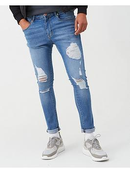 V by Very V By Very Ripped Skinny Jeans - Mid Wash Picture