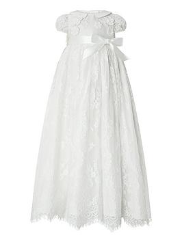 Monsoon Monsoon Baby Provenza Silk Christening Dress &Ndash; Ivory Picture