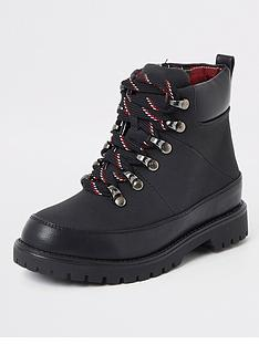 river-island-boys-check-lined-hiking-boots-black