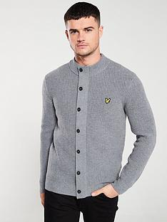 lyle-scott-knitted-zip-through-funnel-neck-jumper-mid-grey-marl