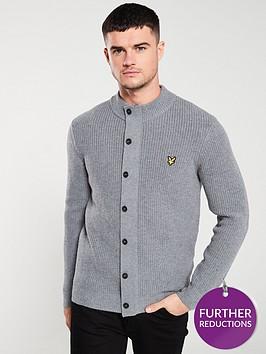 lyle-scott-knitted-zip-through-funnel-neck-jumper-mid-grey-marl