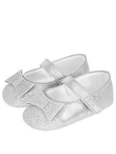 monsoon-baby-sylvie-glitter-toe-cap-crib-shoesnbsp--silver