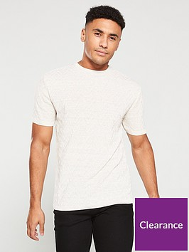 river-island-stone-slim-fit-textured-knit-t-shirt