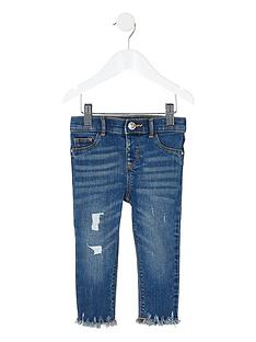 river-island-mini-mini-girls-ripped-mid-rise-skinny-jeans-blue