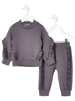 river-island-mini-mini-girls-frill-jumper-outfit-grey