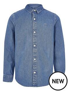 river-island-boys-long-sleeve-denim-shirt-blue