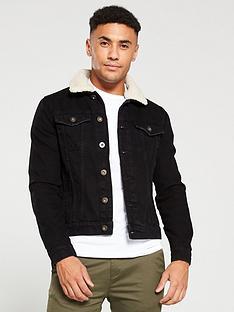 river-island-black-fleece-borg-collar-trim-denim-jacket
