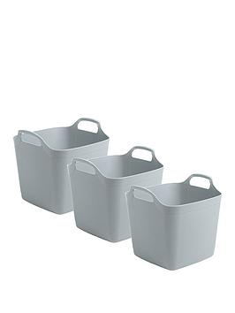 Wham Wham Set Of 3 Flexi Storage Tubs - 15 Litres Picture