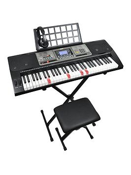axus-axus-lighted-keys-touch-sensitive-electronic-keyboard-pack-with-headphones-stand-stool-6-months-free-online-lessons