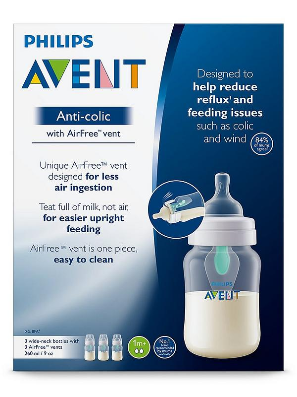 Philips Avent Anti-colic  Baby Bottles Clear 9oz 3 Piece 9 Ounce Used