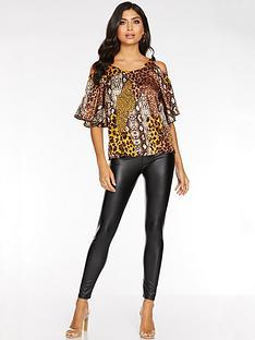 quiz-black-shiny-leggings