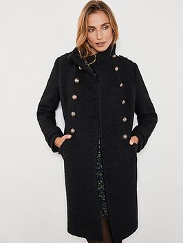 mint-velvet-military-stand-collar-boucle-coat-black