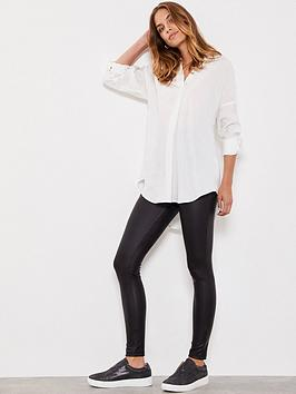 Mint Velvet Mint Velvet Leather Look Leggings - Black Picture