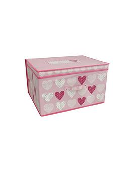 Very  Blush Hearts Jumbo Storage Chest
