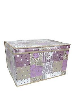Very Printed Vintage Patchwork Jumbo Storage Box Picture