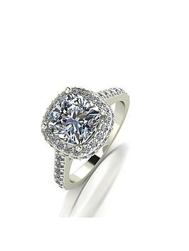 Moissanite Moissanite Moissanite 9Ct White Gold Lady Lynsey 3.5Ct Eq  ... Picture