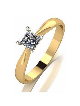 love-diamond-9ct-gold-30pt-diamond-princess-cut-solitaire-ring