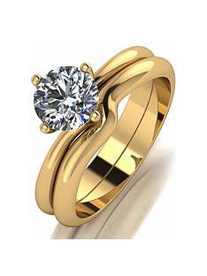 moissanite-moissanite-9ct-gold-1ct-eq-solitaire-bridal-set