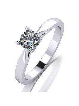 Love DIAMOND Love Diamond Platinum 1/2Ct Diamond Solitaire Ring Picture