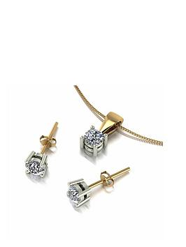 love-diamond-9ct-gold-90pt-diamond-solitaire-stud-earrings-and-pendant-set