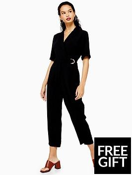 topshop-topshop-buckle-jumpsuit-black