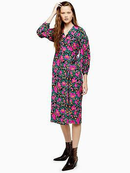topshop-printed-wrap-midi-dress-multi
