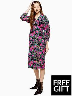 topshop-topshop-printed-wrap-midi-dress-multi