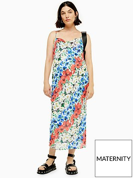 topshop-maternity-floral-midi-dress-multi