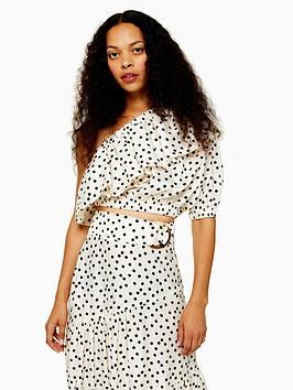 topshop-topshop-petite-spot-button-crop-blouse-white
