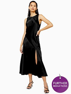topshop-sleeveless-split-front-occasion-midi-dress-black