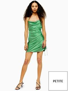 topshop-topshop-petite-satin-ruched-mini-slip-dress