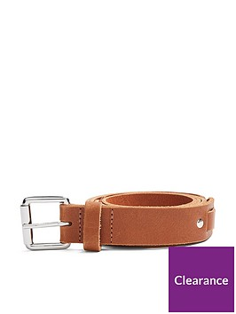 topman-topman-woven-leather-belt-tan