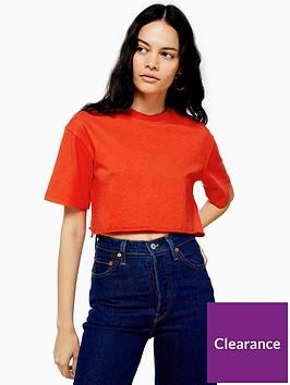 topshop-topshop-washed-crop-t-shirt-red