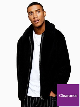 topman-topman-teddy-faux-fur-jacket-black