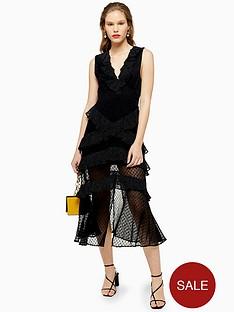 topshop-dobby-trim-midi-dress-black