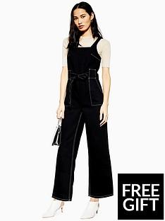 topshop-topshop-square-neck-denim-jumpsuit-black