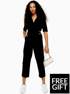 topshop-petite-buckle-jumpsuit-black