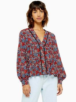 topshop-topshop-ditsy-ladder-trim-blouse-multi