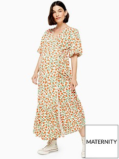 topshop-maternity-peplum-wrap-dress-multi