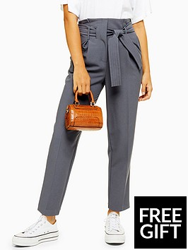 topshop-topshop-stitch-belted-peg-trousers-grey