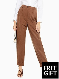 topshop-topshop-pleated-high-waist-trousers-taupe