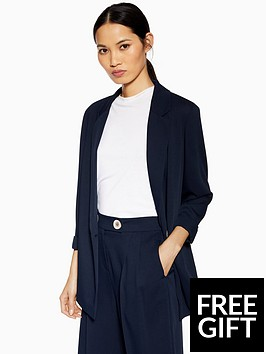 topshop-topshop-single-breasted-jacket-navy