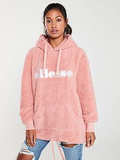 ellesse-grattini-fleece-hoodie-pinknbsp