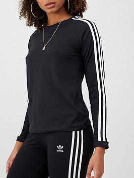 Adidas Adidas 3 Stripe Long Sleeve Top - Black Picture