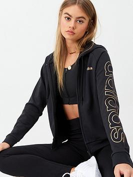 Adidas   Branded Hoodie - Black
