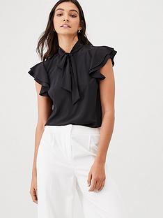 v-by-very-sleeveless-pussybow-blouse-black