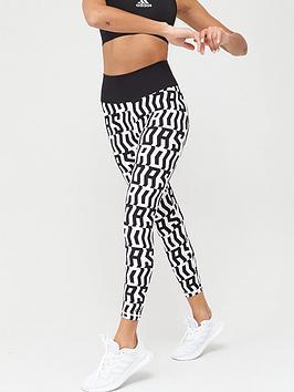 Adidas   Believe This Tko 7/8 Leggings - Black/White