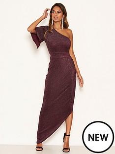 ax-paris-sparkle-one-shoulder-dress-plum